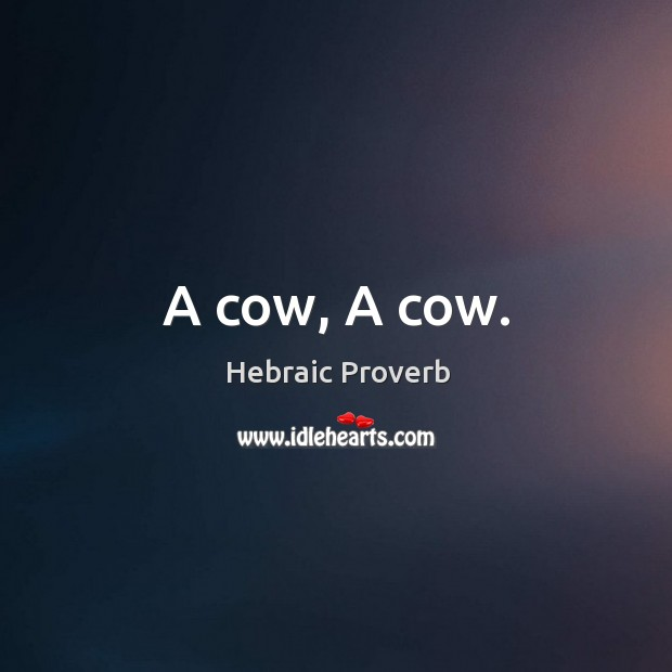 Image, A cow, a cow.