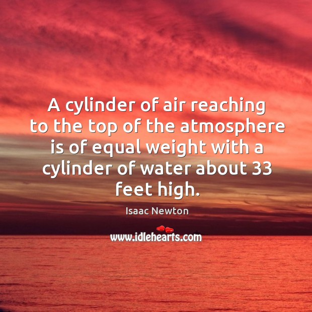 A cylinder of air reaching to the top of the atmosphere is Image