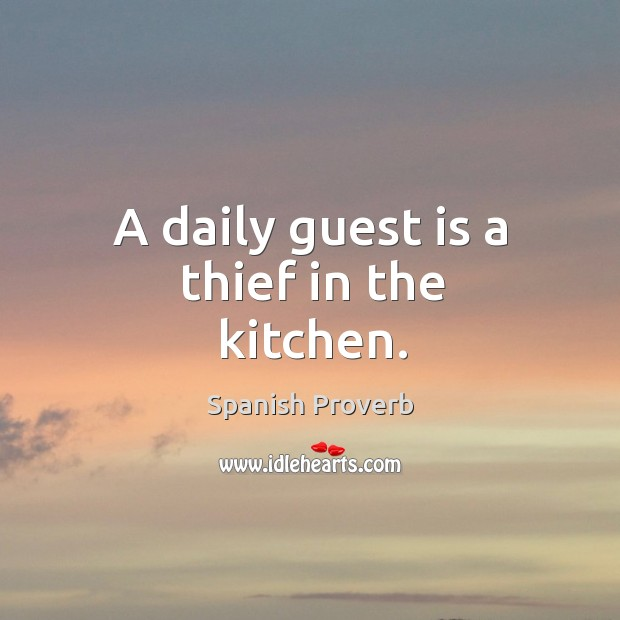 Image, A daily guest is a thief in the kitchen.