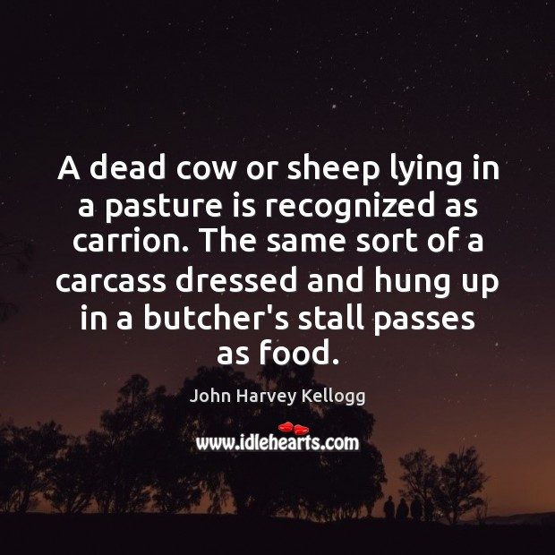 Image, A dead cow or sheep lying in a pasture is recognized as
