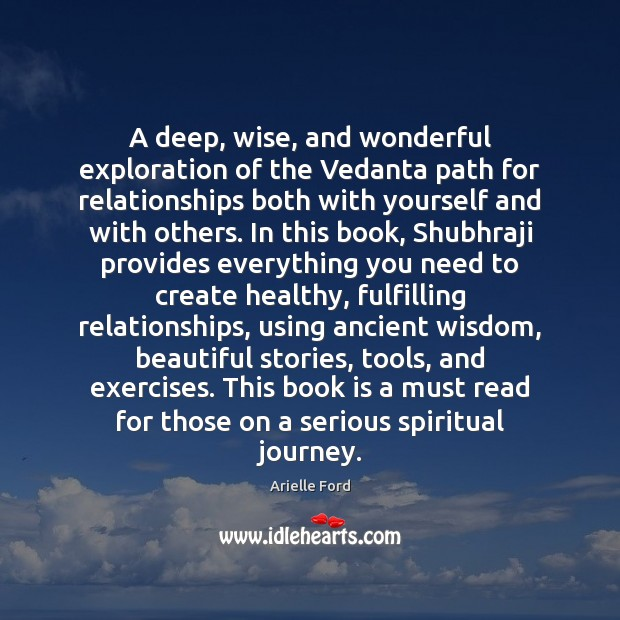 Image, A deep, wise, and wonderful exploration of the Vedanta path for relationships