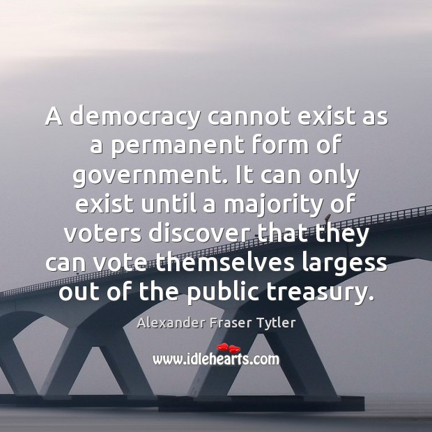 Image, A democracy cannot exist as a permanent form of government. It can