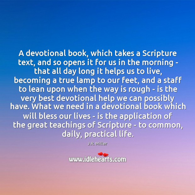 Image, A devotional book, which takes a Scripture text, and so opens it