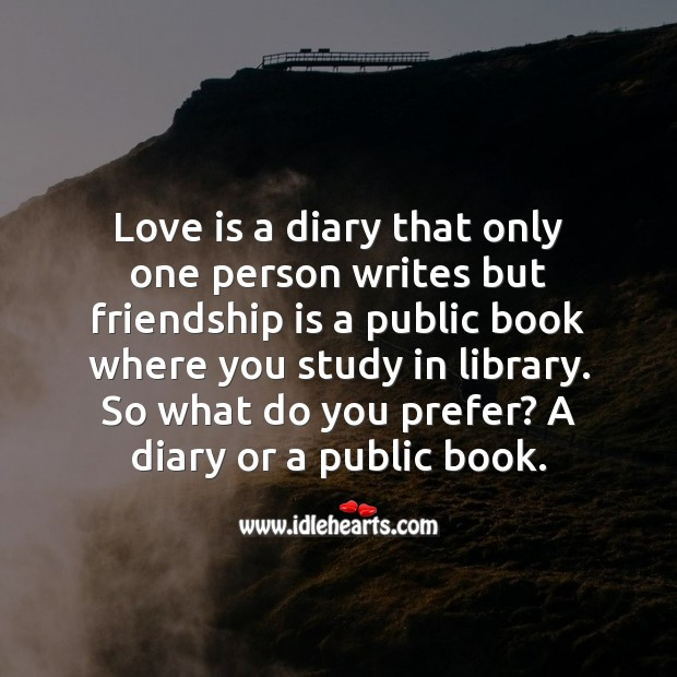 A diary or a public book. Friendship Messages Image