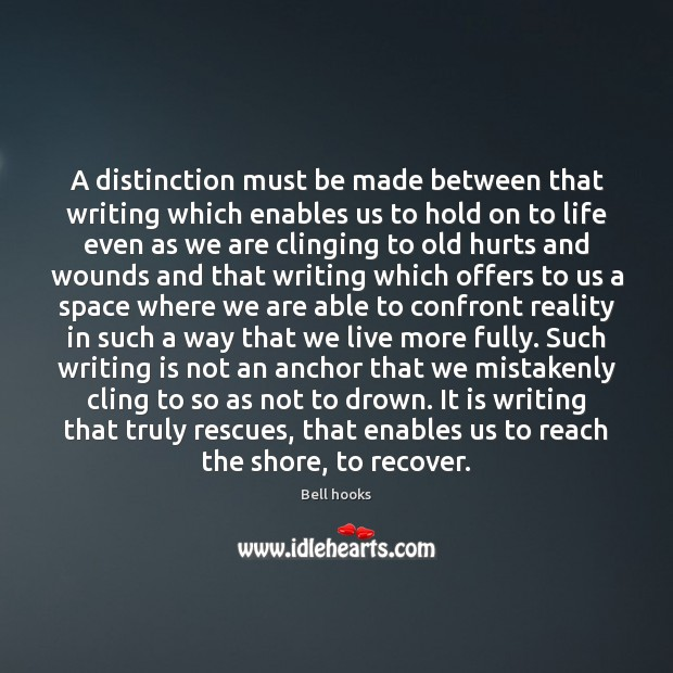 Image, A distinction must be made between that writing which enables us to