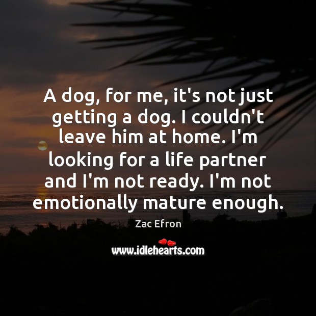 Image, A dog, for me, it's not just getting a dog. I couldn't