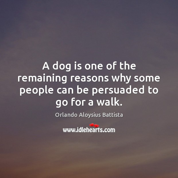 A dog is one of the remaining reasons why some people can be persuaded to go for a walk. Image