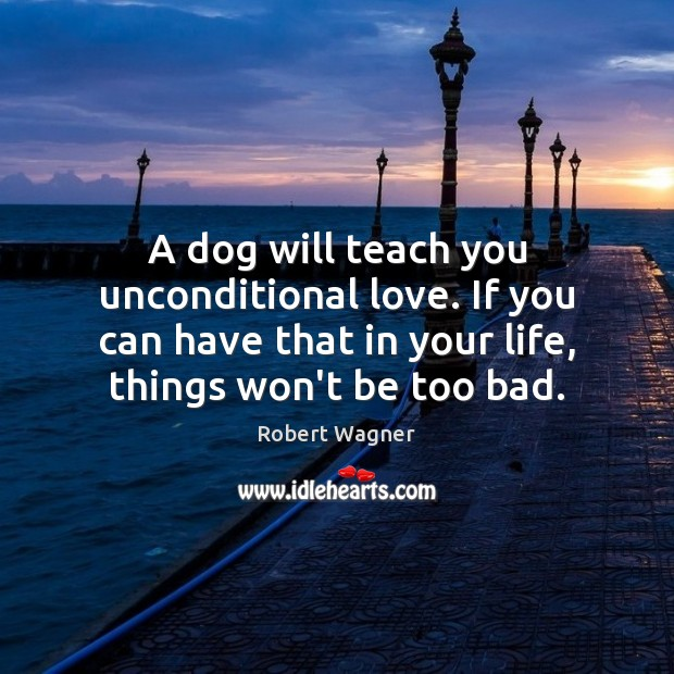 Image, A dog will teach you unconditional love. If you can have that