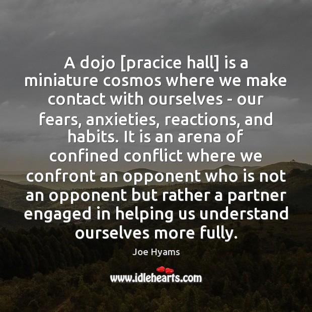 Image, A dojo [pracice hall] is a miniature cosmos where we make contact