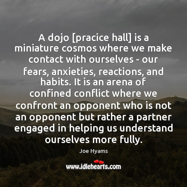 A dojo [pracice hall] is a miniature cosmos where we make contact Image