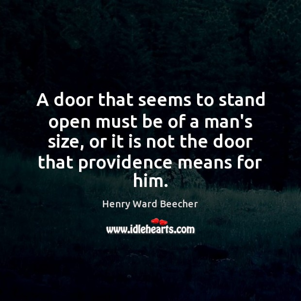 Image, A door that seems to stand open must be of a man's