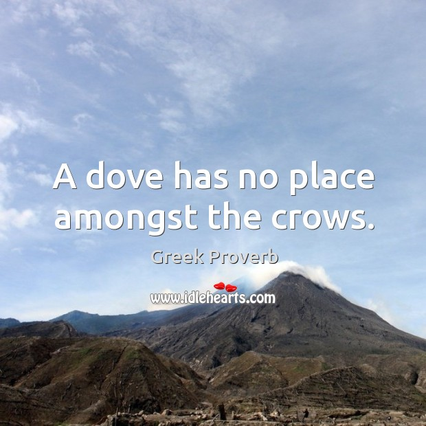 Image, A dove has no place amongst the crows.