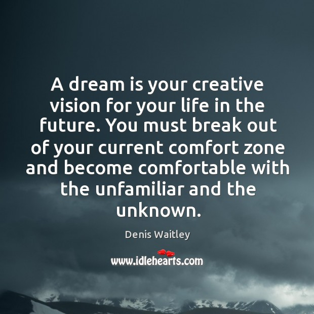 A dream is your creative vision for your life in the future. Image