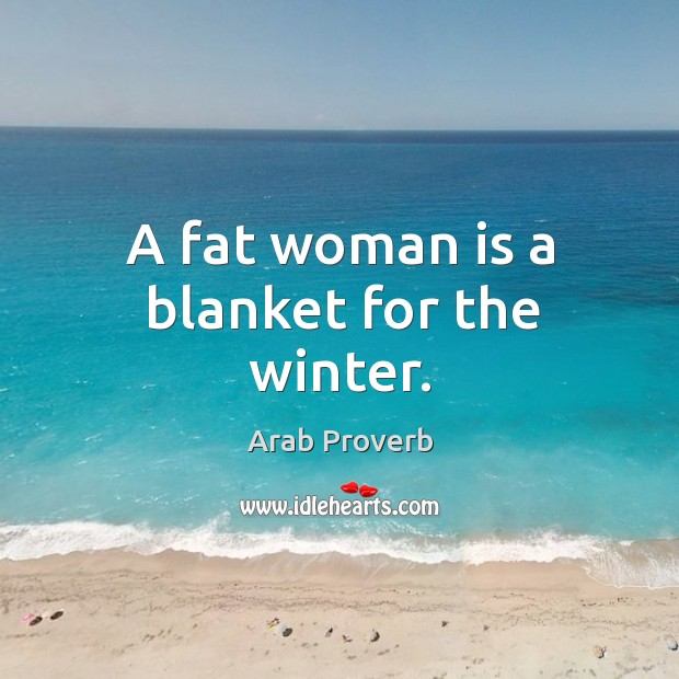 Image, A fat woman is a blanket for the winter.