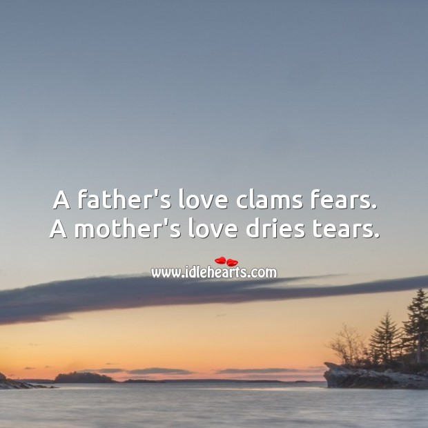 Image, A father's love clams fears