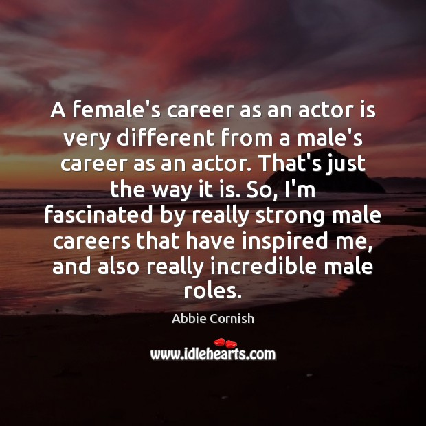 Image, A female's career as an actor is very different from a male's