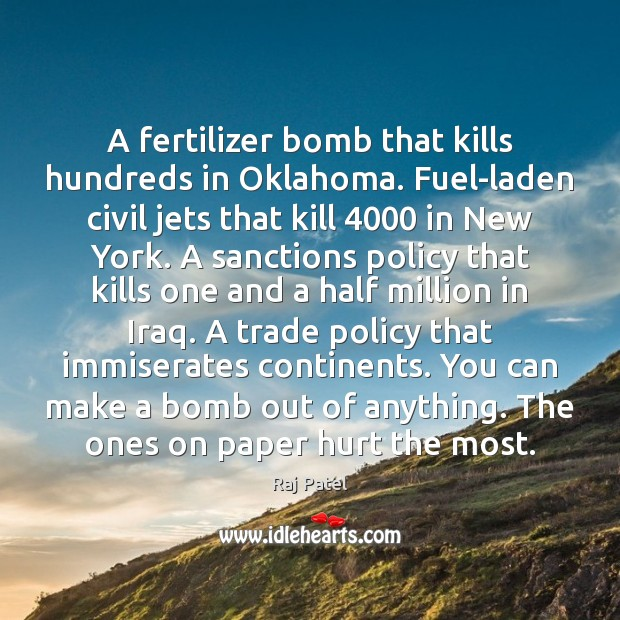 Image, A fertilizer bomb that kills hundreds in Oklahoma. Fuel-laden civil jets that