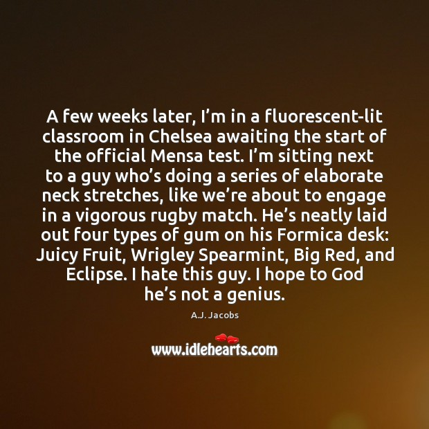 Image, A few weeks later, I'm in a fluorescent-lit classroom in Chelsea