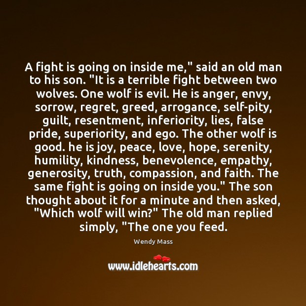 """A fight is going on inside me,"""" said an old man to Image"""