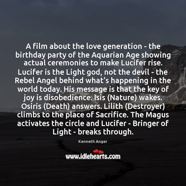 Image, A film about the love generation – the birthday party of the