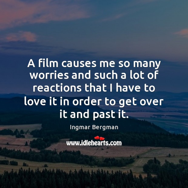 A film causes me so many worries and such a lot of Image