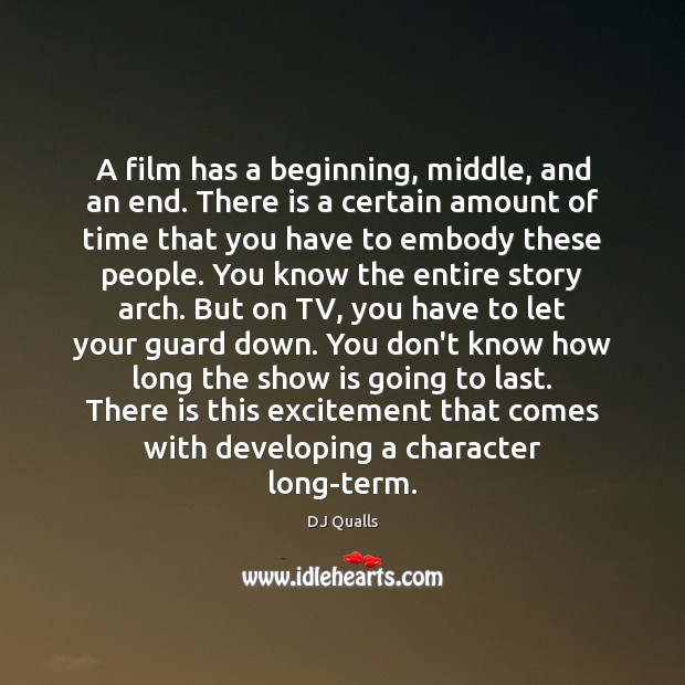 A film has a beginning, middle, and an end. There is a Image