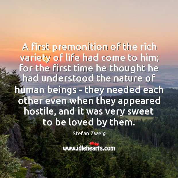 A first premonition of the rich variety of life had come to Image