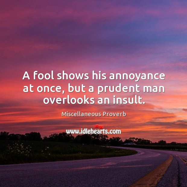 Miscellaneous Proverbs