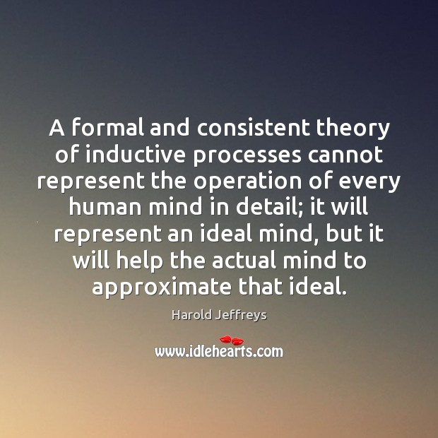 Image, A formal and consistent theory of inductive processes cannot represent the operation