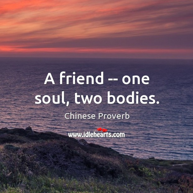 Image, A friend — one soul, two bodies.