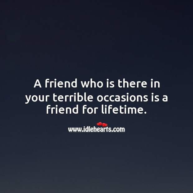 A friend for lifetime. Real Friends Quotes Image
