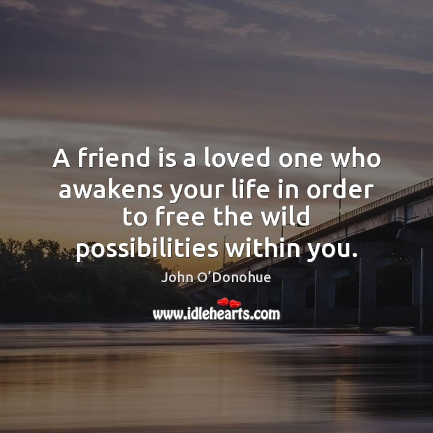 Image, A friend is a loved one who awakens your life in order