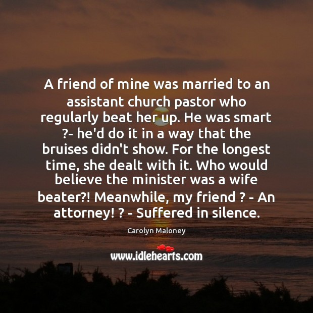 Image, A friend of mine was married to an assistant church pastor who