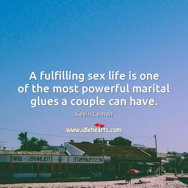 A fulfilling sex life is one of the most powerful marital glues a couple can have. Image