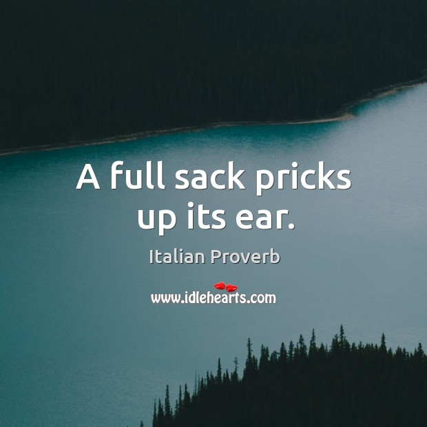 Image, A full sack pricks up its ear.