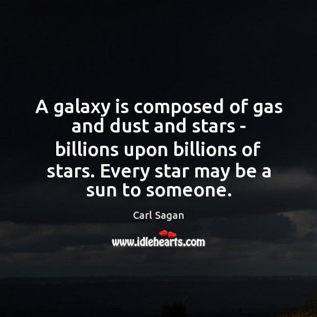 Image, A galaxy is composed of gas and dust and stars – billions