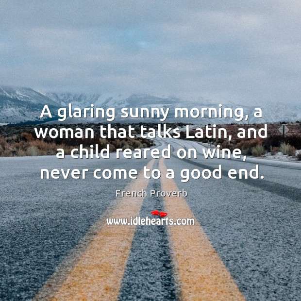 Image, A glaring sunny morning, a woman that talks latin