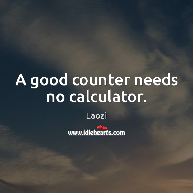 Image, A good counter needs no calculator.