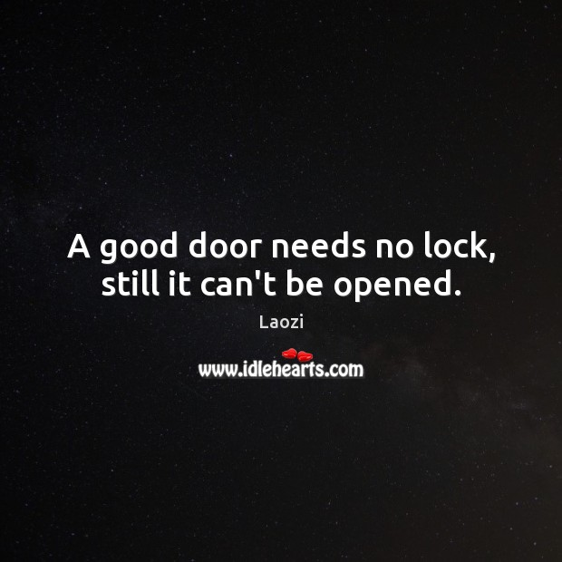 Image, A good door needs no lock, still it can't be opened.