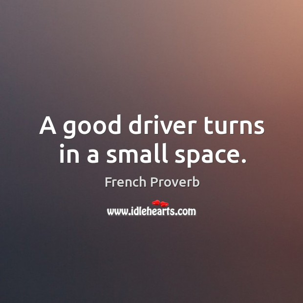 Image, A good driver turns in a small space.