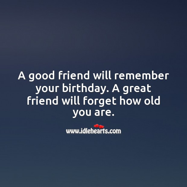 A good friend will remember your birthday. Image