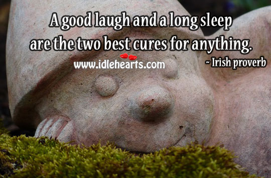 The two best cures for anything are. Image