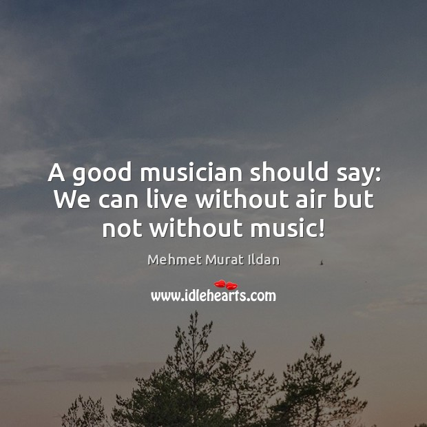 Image, A good musician should say: We can live without air but not without music!