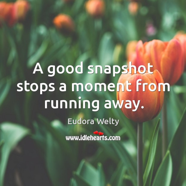 A good snapshot stops a moment from running away. Image