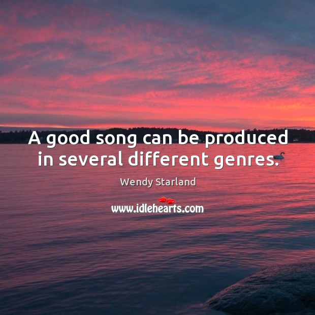 A good song can be produced in several different genres. Image