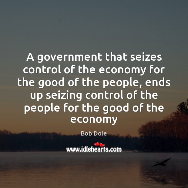 A government that seizes control of the economy for the good of Image