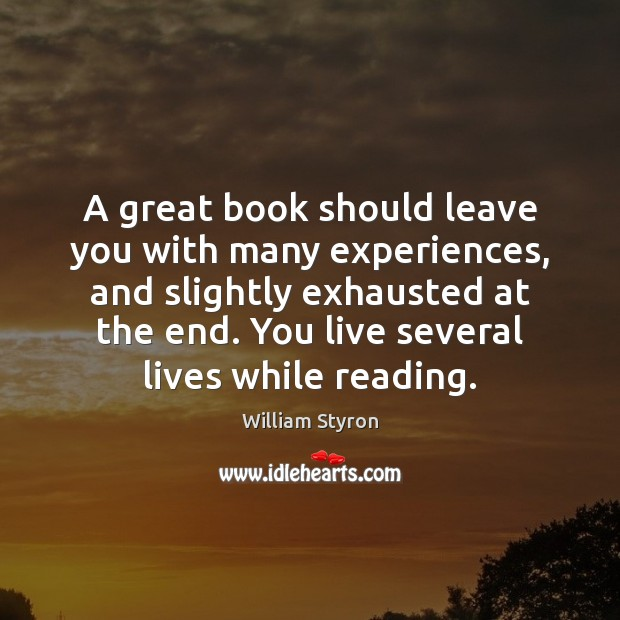 A great book should leave you with many experiences, and slightly exhausted Image