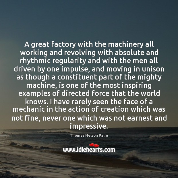 A great factory with the machinery all working and revolving with absolute Image