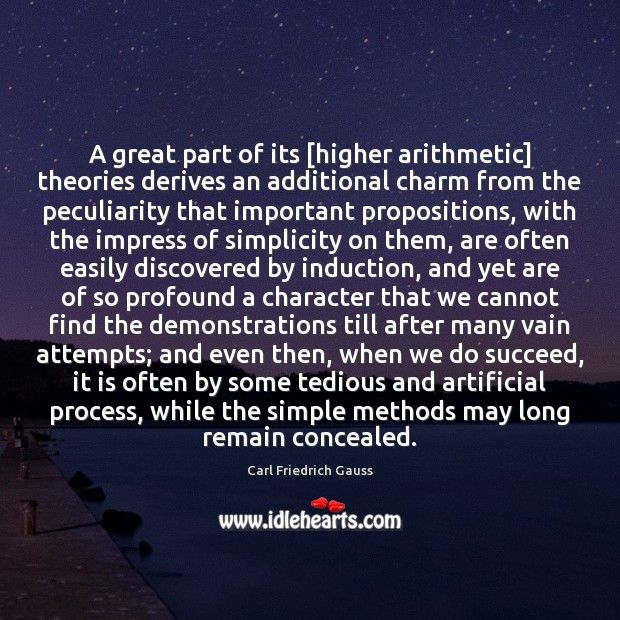 Image, A great part of its [higher arithmetic] theories derives an additional charm