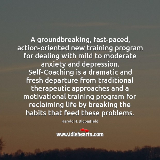 A groundbreaking, fast-paced, action-oriented new training program for dealing with mild to Image